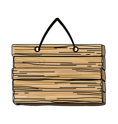 wooden rustic signboard hanging from a rope vector image