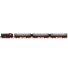 Old steam train vector image