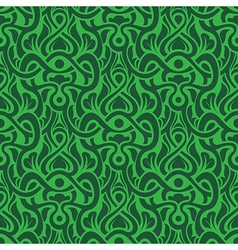 green seamless pattern vector image