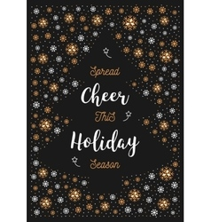 Christmas holiday cheer card xmas flyer greeting vector