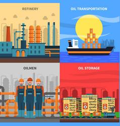 Oil concept icons set vector