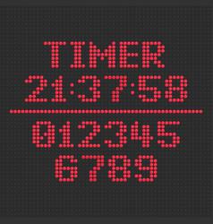led display timer vector image