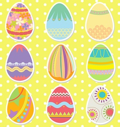 Colorful pattern easter eggs vector