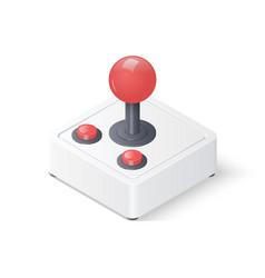 3d joystick gamepad vector image