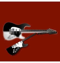 broken guitar vector image