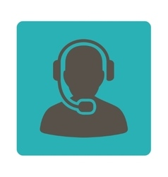 Call center operator icon from commerce buttons vector
