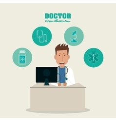 Doctor icon medical and health care design vector