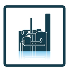 Chemical plant icon vector