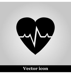 Pulse hearth icon on grey background illus vector