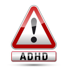 Adhd - attention deficit hyperactivity disorder - vector