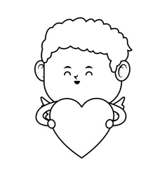 Baby cupid icon vector