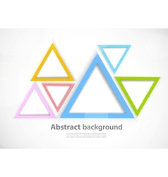 Background with triangles vector image vector image
