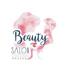 beauty salon logo original design label for hair vector image vector image