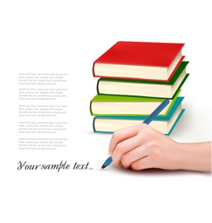 Books and Writing vector image vector image