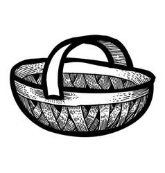 Cartoon image of basket icon basket symbol vector