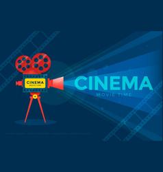 cinema festival poster vector image vector image