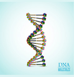 colorful dna background vector image