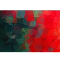 Composition with red and green geometric shapes vector image vector image