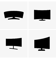 Curved screen displays vector image vector image