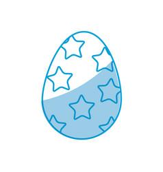 easter egg stars celebration spring party vector image