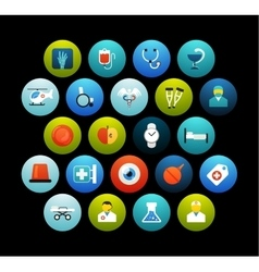 Flat icons set 19 vector