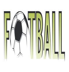 Fudbalska lopta simple3 vector image vector image