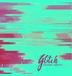 Glitch background with duotone shade vector