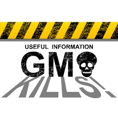 GMO kills vector image