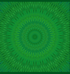 Green mandala explosion fractal background - vector