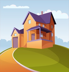 House on the Hill vector image