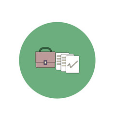In flat design of briefcase vector