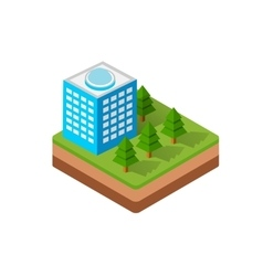 Isometric town vector