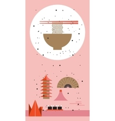 Japan travel poster japanese cuisine design vector