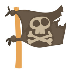 jolly roger icon cartoon style vector image