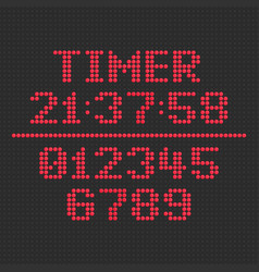 Led display timer vector