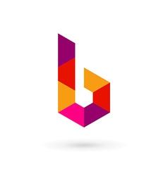 Letter b mosaic logo icon design template elements vector