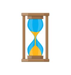 Old style hourglass clocks with sand vector