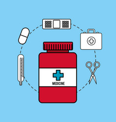 pharmaceutical drugs and surgery icon vector image