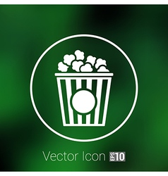 Popcorn design on blue backgroundclean logo vector image