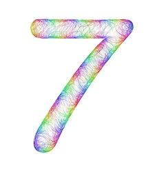 Rainbow sketch font design vector