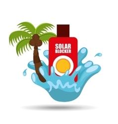 solar blocker water splash palm summer vacation vector image vector image