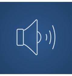 Speaker volume line icon vector image vector image