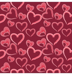 valentine seamless hearts pattern vector image