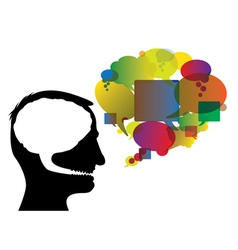 Brain speech bubbles vector