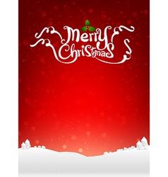 Merry christmas text with snow bakcground eps10 vector