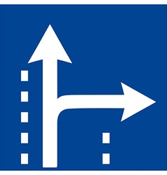 Square traffic sign vector image