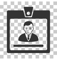 Manager badge icon vector