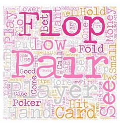 Texas hold em poker tips low pairs text background vector