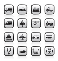 Different kind of transportation icons vector
