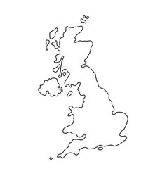 The united kingdom of black contour vector
